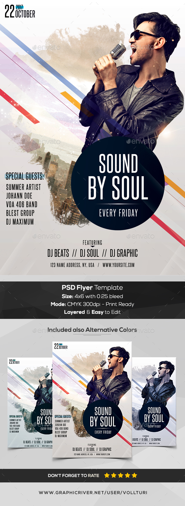 Sound by Soul - PSD Flyer Template - Flyers Print Templates