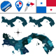 Map of Panama with Named Provinces and Comarcas - GraphicRiver Item for Sale