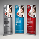 Hair Salon Roll-up Banner - GraphicRiver Item for Sale
