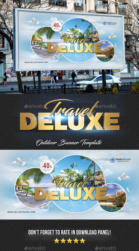 Travel Tour Outdoor Banner - Signage Print Templates