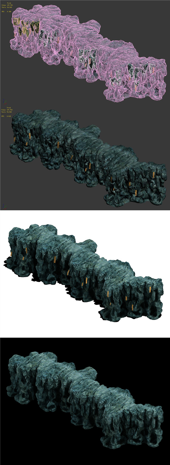 Trapped Dragon Cave - Mountain 05 - 3DOcean Item for Sale