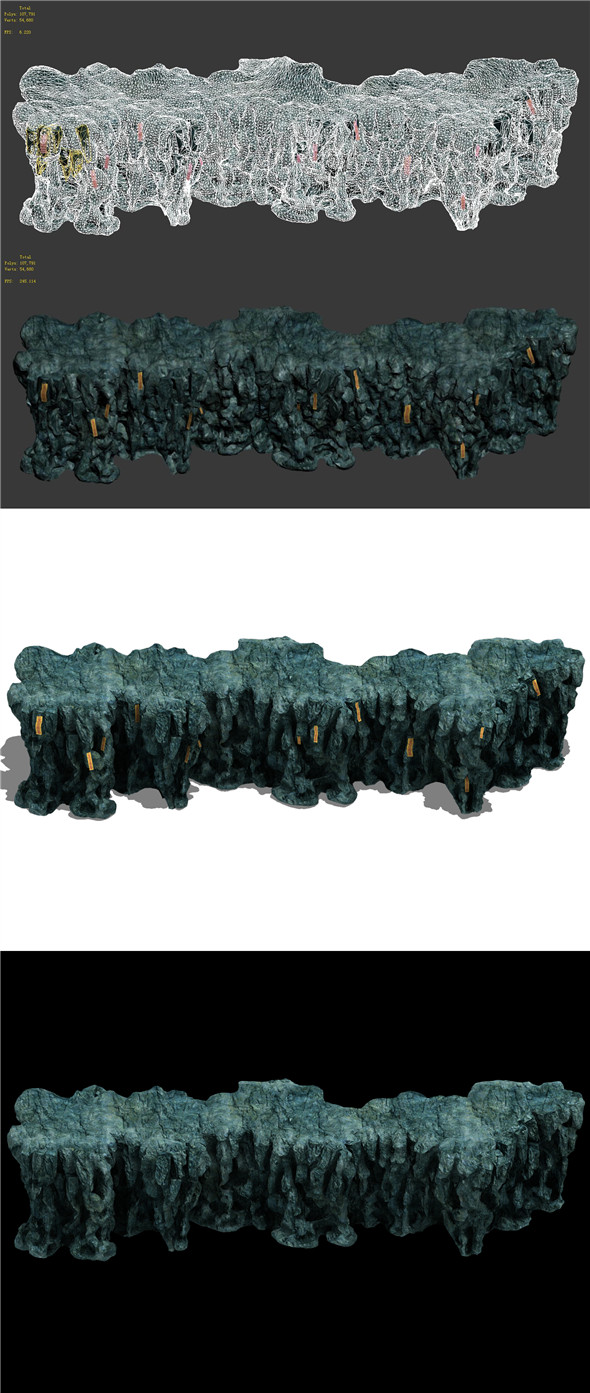 Trapped Dragon Cave - Mountain 06 - 3DOcean Item for Sale