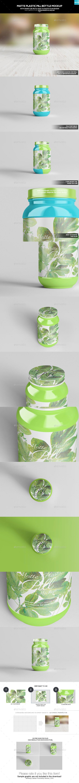 Matte Plastic Pill Bottle Mockup - Miscellaneous Packaging
