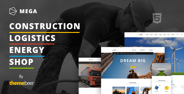 Mega - Construction / Logistics / Energy with Shop Template