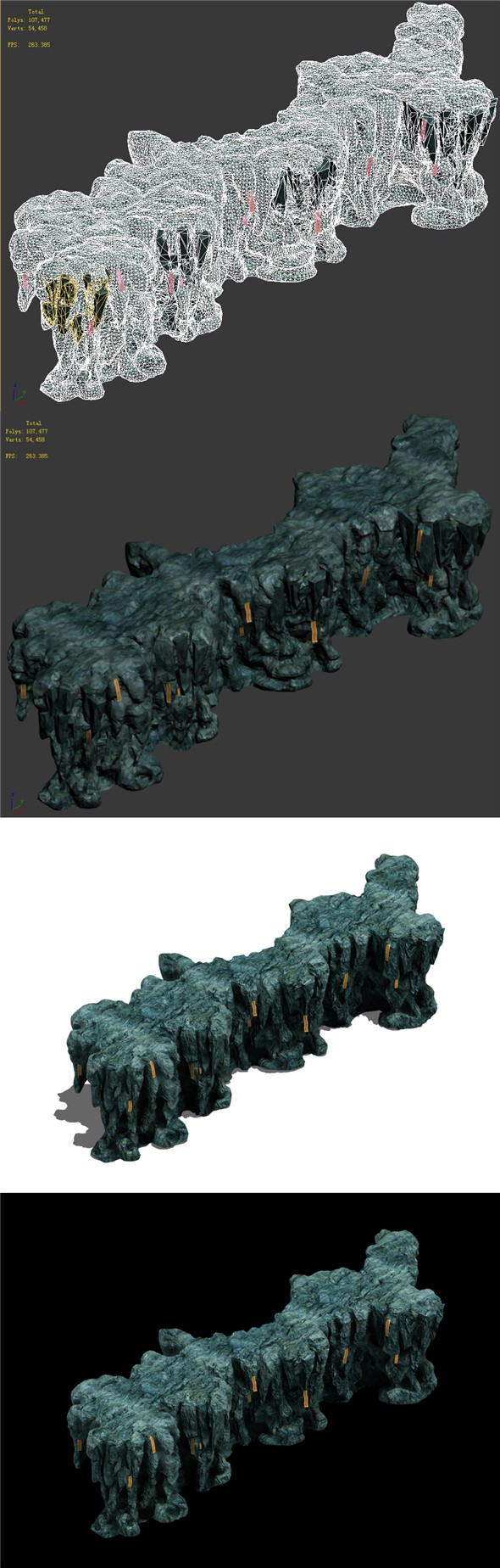 Trapped Dragon Cave - Mountain 07 - 3DOcean Item for Sale