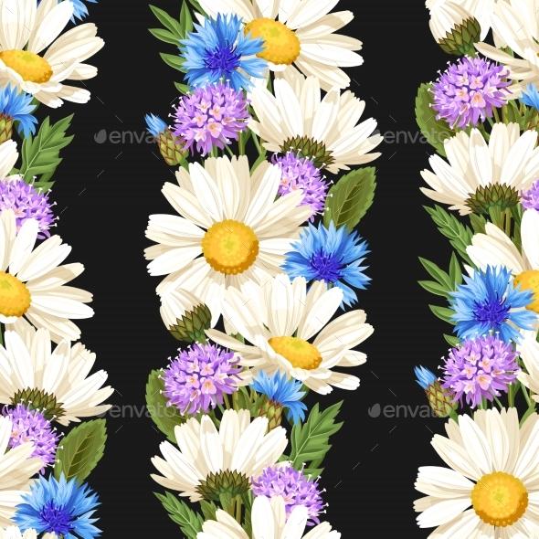 Meadow Flowers Seamless - Flowers & Plants Nature