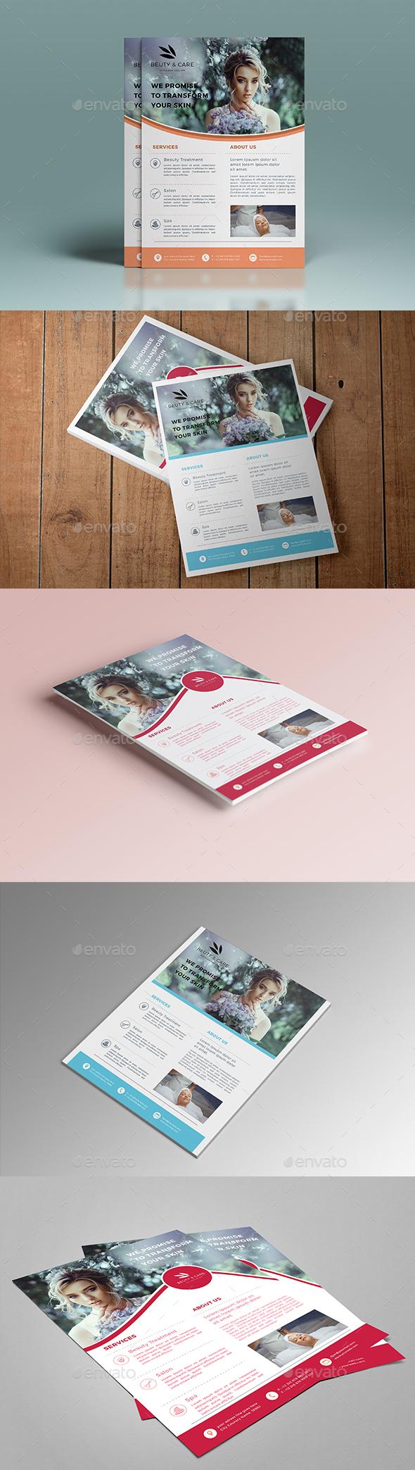 beauty flyer - Flyers Print Templates