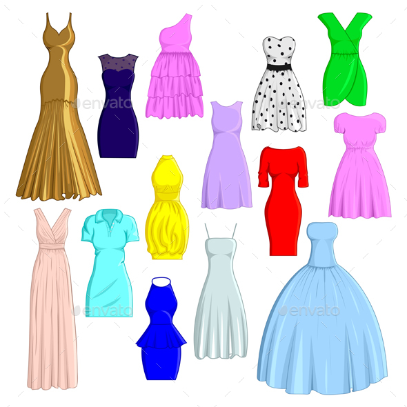 Set of Dresses - Man-made Objects Objects