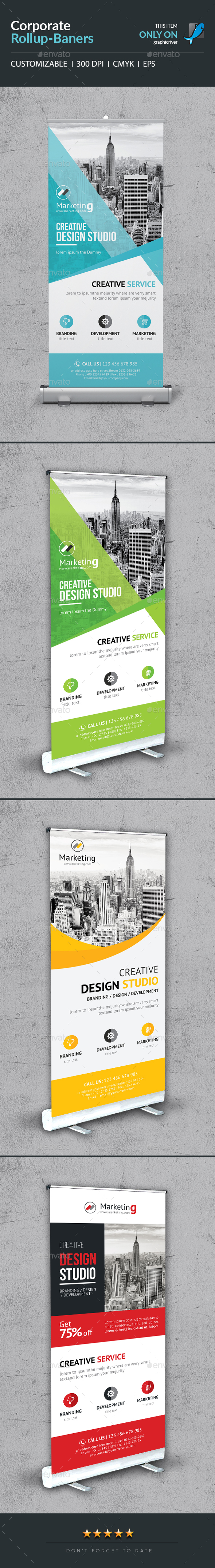 Roll-Up Banner Bundle_3 in 1 - Signage Print Templates