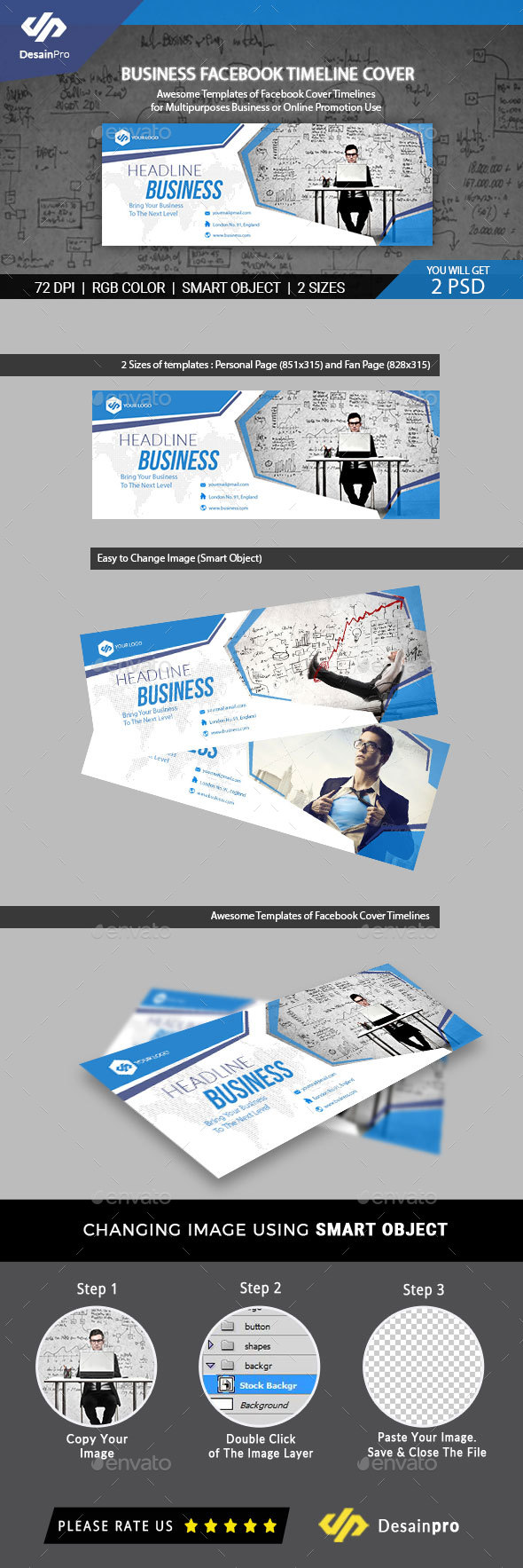 Business Facebook Cover Templates - AR - Social Media Web Elements
