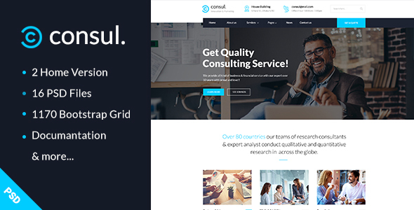 Consul – Business & Training PSD Template