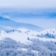 Mountain Peak with Snow Blow By Wind. Winter Landscape. Cold Day, with Snow - VideoHive Item for Sale