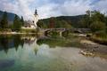 Church at Bohinj Lake near Bled in Slovenia - PhotoDune Item for Sale