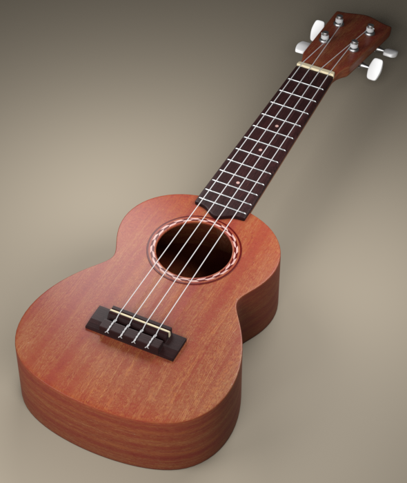 Ukulele - 3D model - 3DOcean Item for Sale