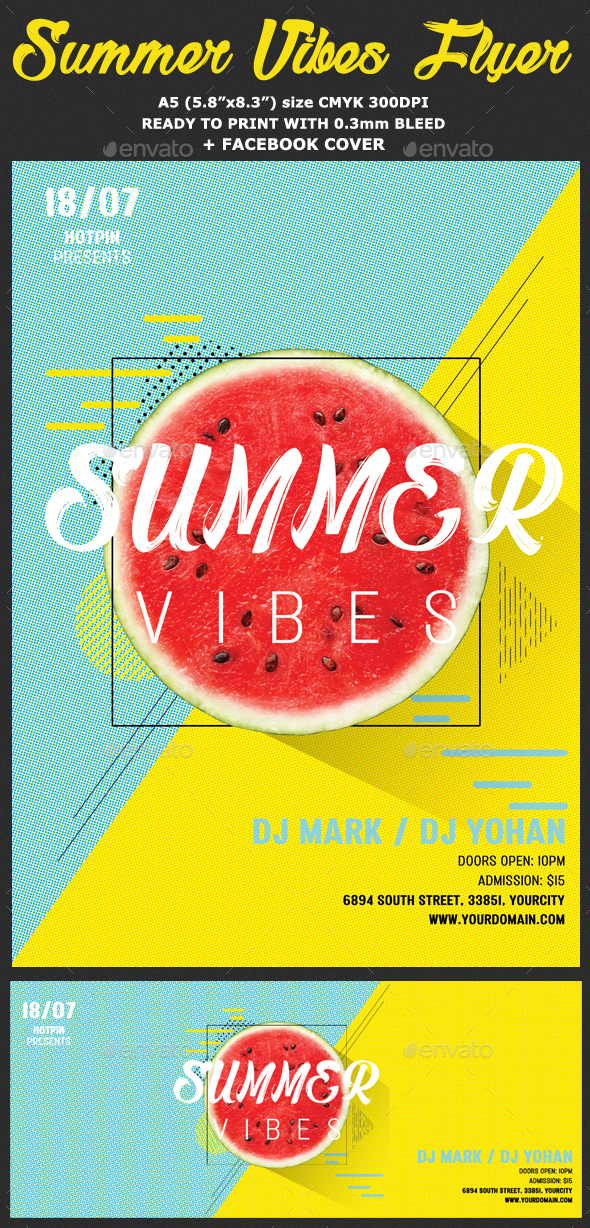 Summer Vibes Psd Flyer Template By Hotpin  Graphicriver