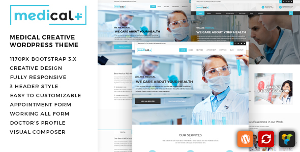 Medical Plus - Health Care, Clinic WordPress Theme - Health & Beauty Retail
