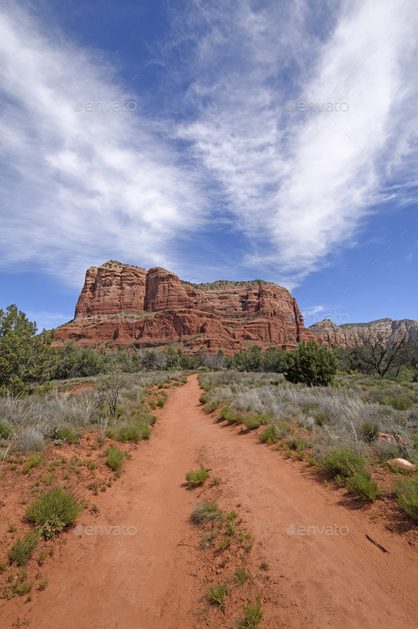 Path to the Red Rocks - Stock Photo - Images