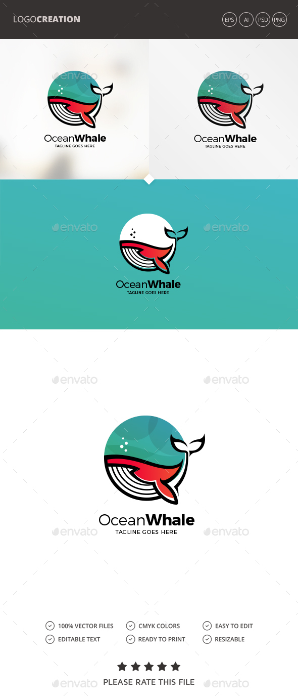 Ocean Logo - Animals Logo Templates
