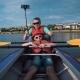 Man and Son Kayaking
