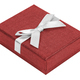 Red decorative present box with white ribbon - PhotoDune Item for Sale