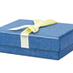 Blue decorative present box with yellow ribbon - PhotoDune Item for Sale