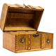 Open old wooden chest on white background - PhotoDune Item for Sale