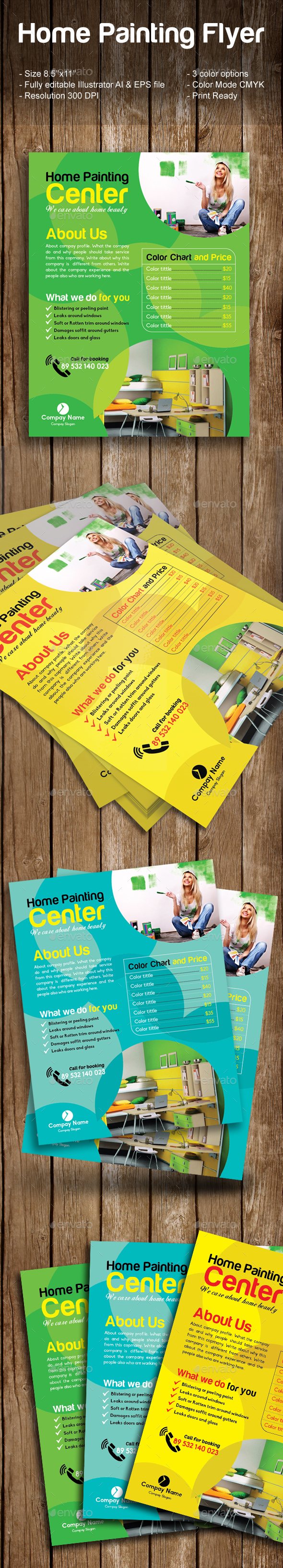 Home Painting Flyer - Commerce Flyers