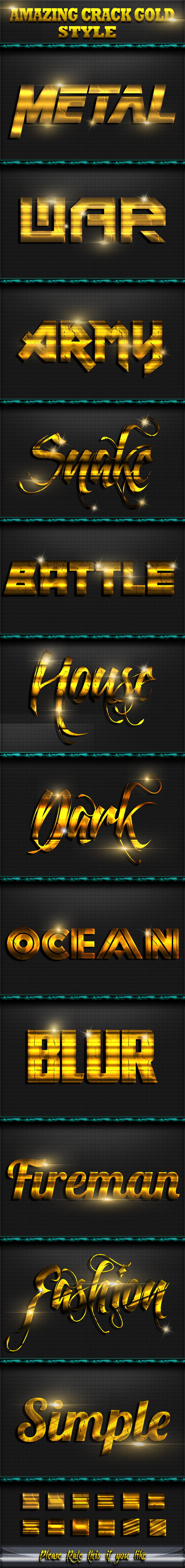 Cracked Gold Style Text Effect - Text Effects Actions