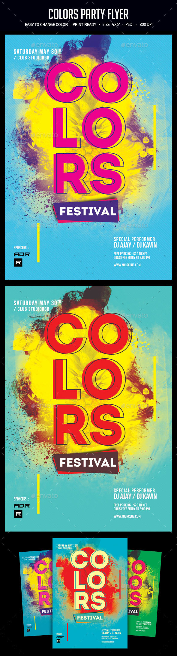 Colors Party Flyer - Clubs & Parties Events