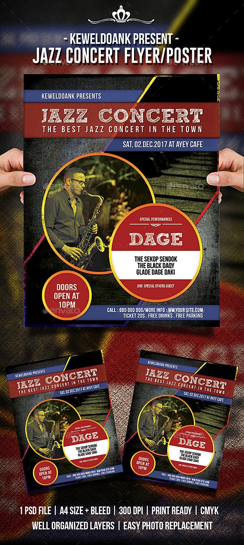 Jazz Concert Flyer / Poster - Concerts Events