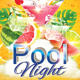 Pool Night Flyer - GraphicRiver Item for Sale