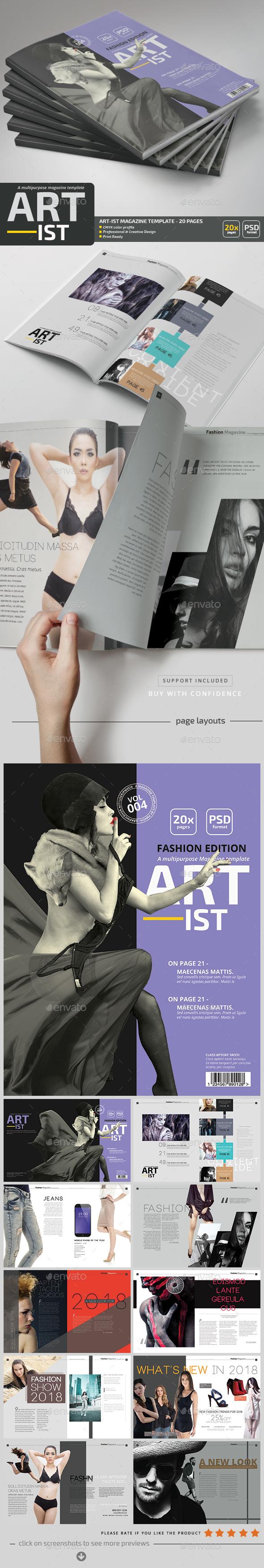 Art-ist Magazine Template V.4 - Magazines Print Templates
