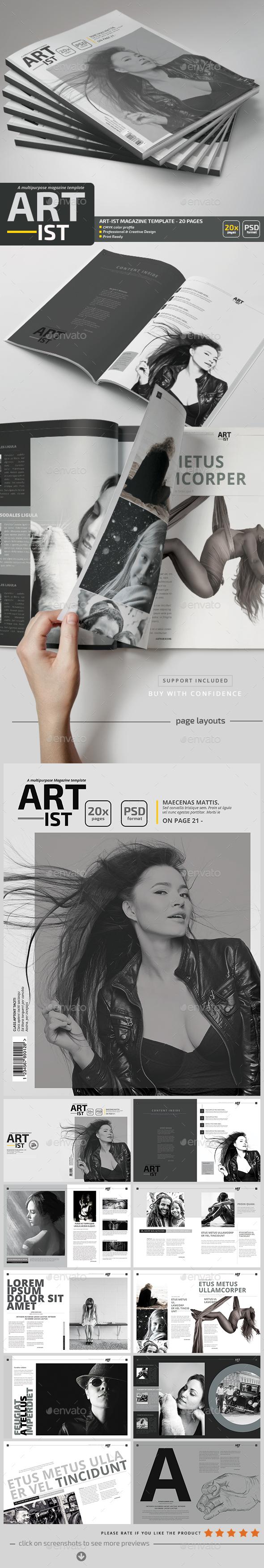 Art-ist Magazine Template V.5 - Magazines Print Templates