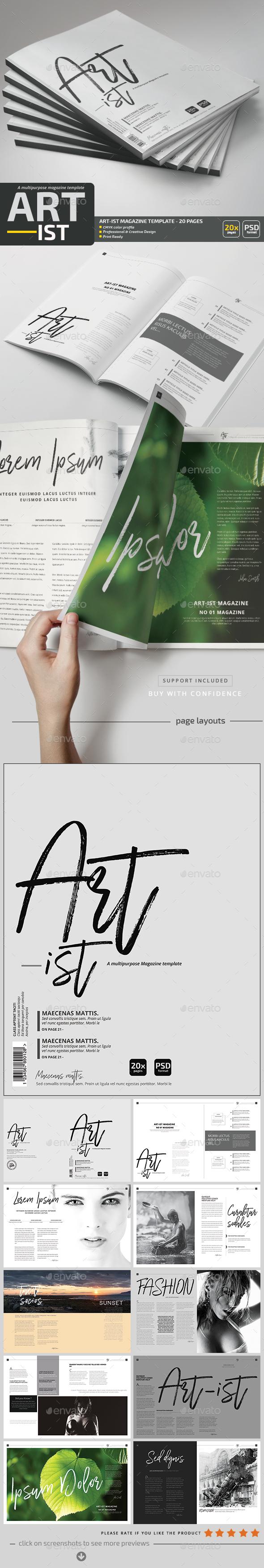 Art-ist Magazine Template V.6 - Magazines Print Templates