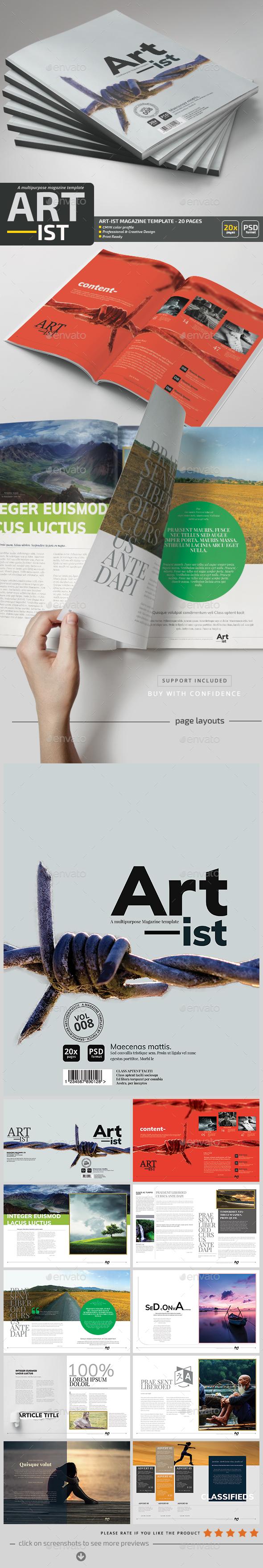 Art-ist Magazine Template V.8 - Magazines Print Templates