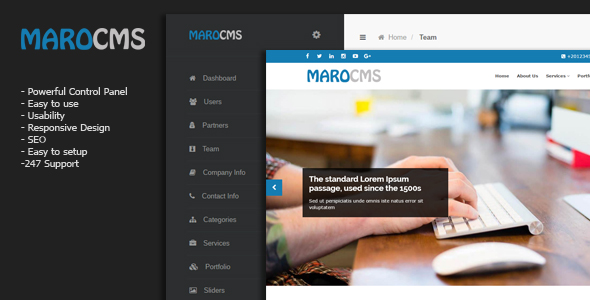 MaroCMS -  Business CMS nulled free download