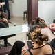 Lady at the hairdresser getting a new hairstyle - PhotoDune Item for Sale