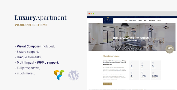 Luxury Apartment - Single property WordPress theme - Real Estate WordPress