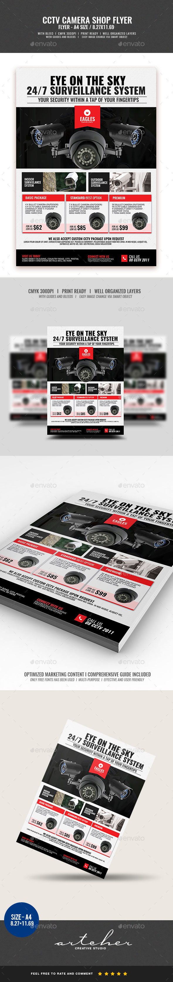 CCTV Camera Shop Flyer v3 - Commerce Flyers