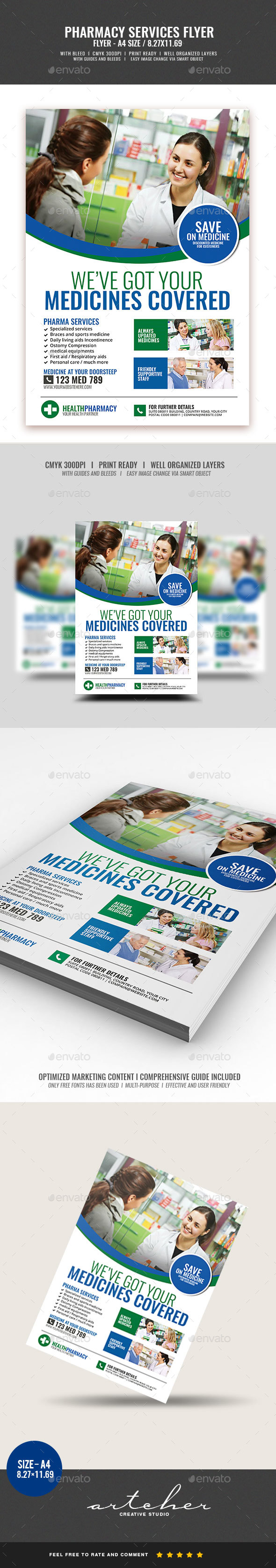 Pharmacy Services Flyer v2 - Commerce Flyers