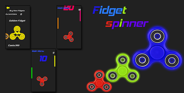Fidget Spinner Go + Admob Ads - CodeCanyon Item for Sale