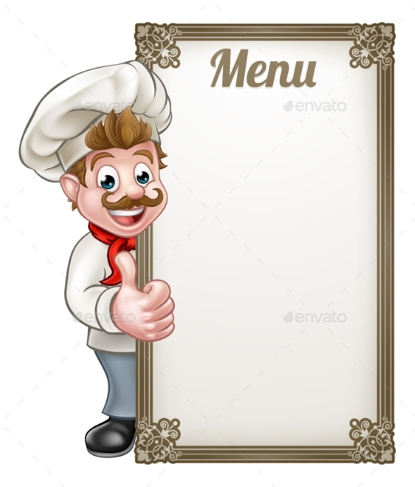 Cartoon Chef Menu - Miscellaneous Vectors