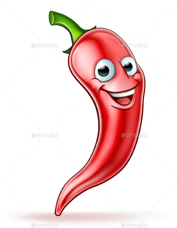 Red Chili Pepper Mascot - Food Objects