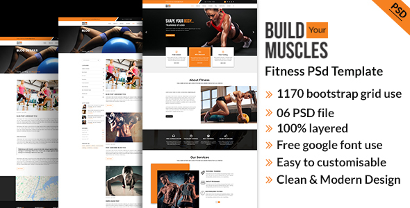 Fitness/Gym PSD Template