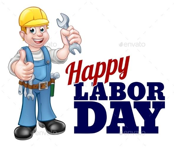 Happy Labor Day Worker Design - Miscellaneous Vectors