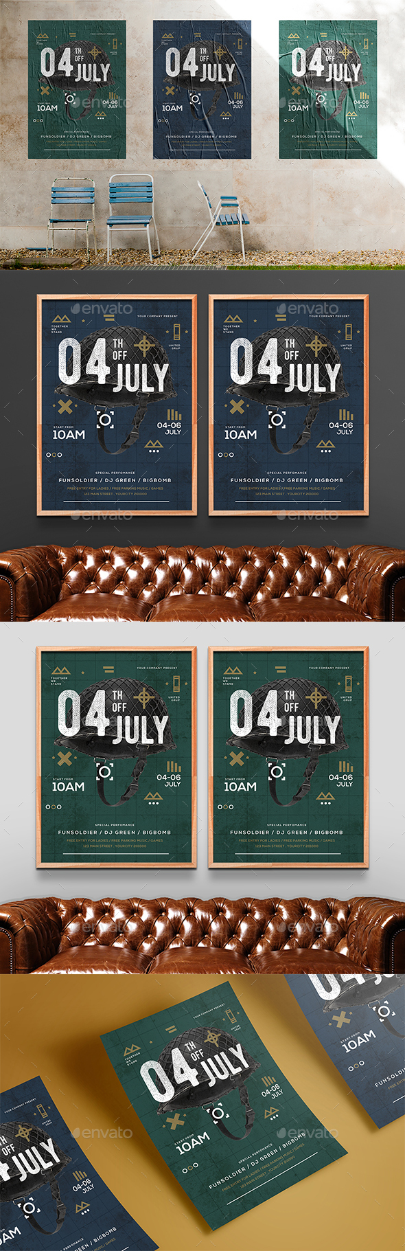 Independence day - Events Flyers