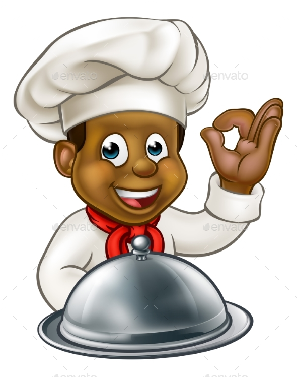 Chef Cartoon Character Mascot - Food Objects