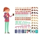 Cartoon Girl Teenager in Casual Clothes - GraphicRiver Item for Sale