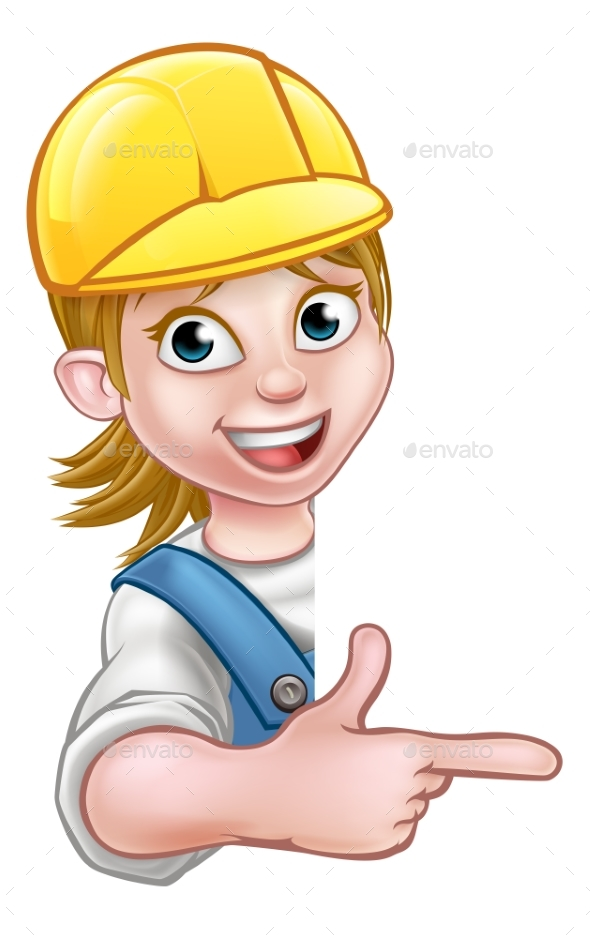 Woman Handyman Carpenter Mechanic or Plumber - Miscellaneous Vectors