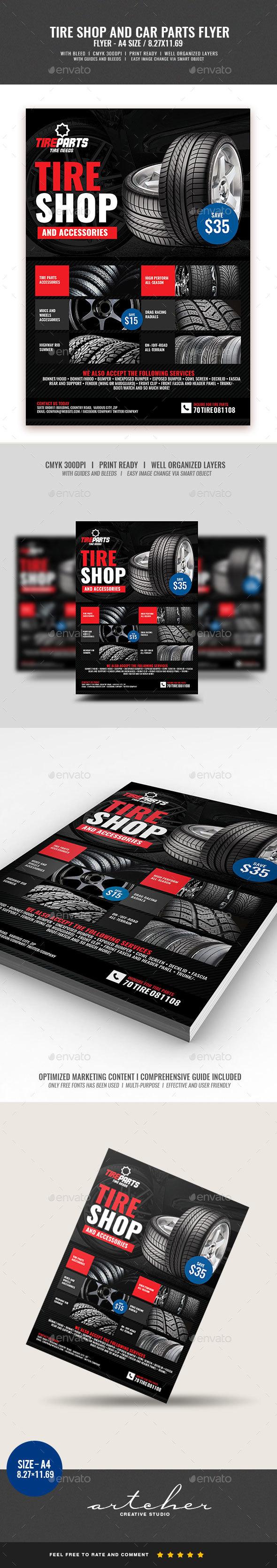 Tire Shop Service - Commerce Flyers